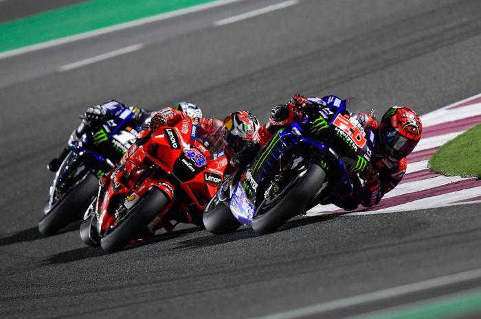 Fabio Quartararo (Monster Energy Yamaha) dan Jack MIller (Ducati).