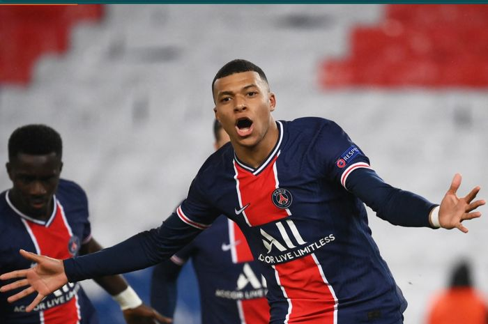 Penyerang Paris Saint-Germain (PSG), Kylian Mbappe,