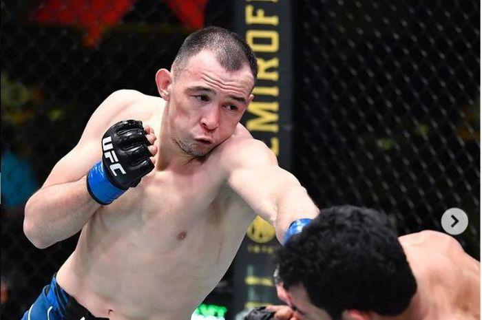Damir Ismagulov, kala beraksi pada UFC Vegas 27 silam (23/5/2021).