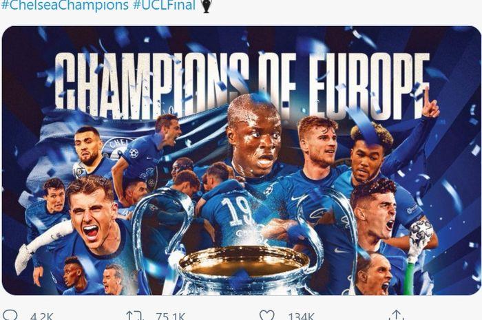 Chelsea juara Liga Champions 2020-2021.