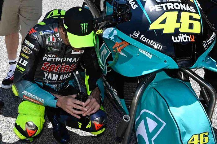 Pembalap MotoGP dari tim Petronas Yamaha, Valentino Rossi.