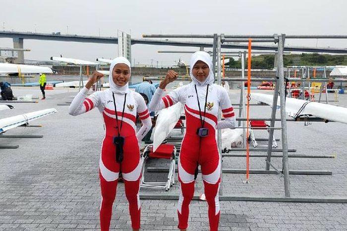 Atlet rowing putri Indonesia, Mutiara Rahma Putri/Melani Putri.