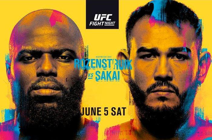 Poster pertarungan Jairzinho Rozenstruik vs Augusto Sakai pada ajang UFC Vegas 28, Sabtu (5/6/2021) atau Minggu pagi WIB.