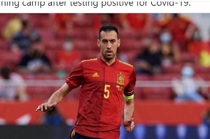 Kapten timnas Spanyol, Sergio Busquets.