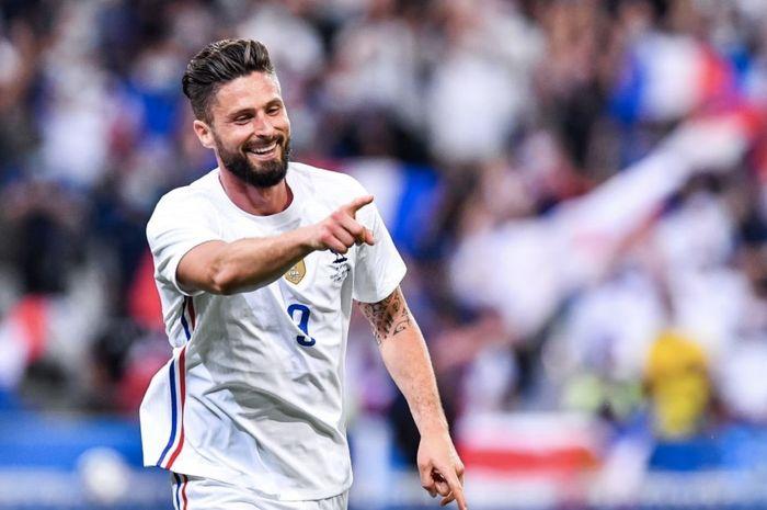 Olivier Giroud mencetak brace kala Prancis sukses menggebuk Bulgaria dalam uji coba terakhir sebelum Euro 2020.