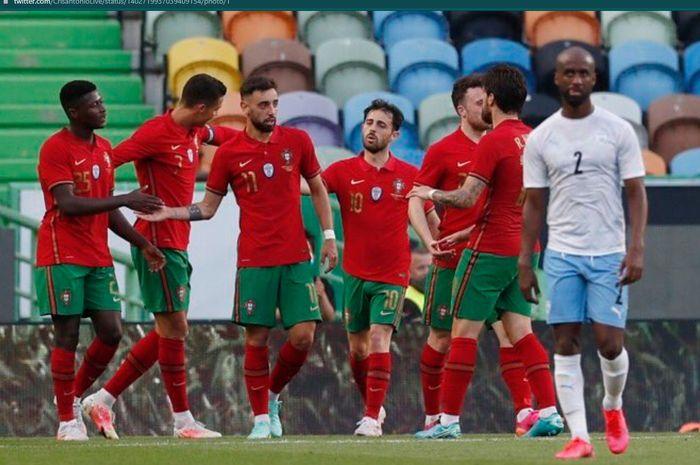 Timnas Portugal sukses meraih kemenangan atas timnas Israel dalam uji coba terakhir menjelang Euro 2020.