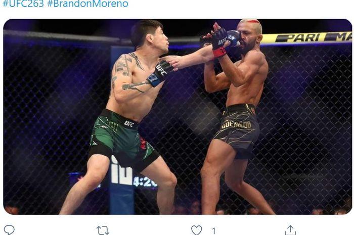 Duel Brandon Moreno vs Deiveson Figueiredo di UFC 263, Minggu (13/6/2021) WIB di Arizona.