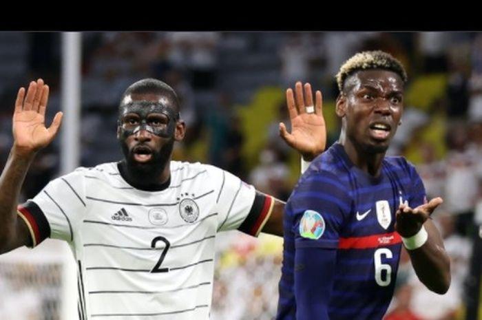 Paul Pogba mengklaim dirinya sempat digigit Antonio Ruediger di laga Prancis versus Jerman