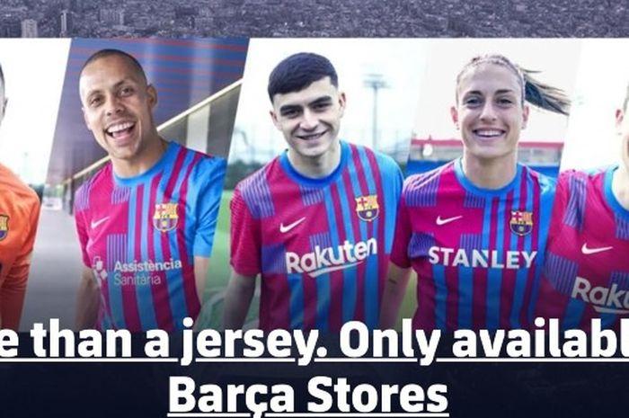Kampanye kostum terbaru Barcelona untuk musim 2020-2021 tidak menampilkan wajah Lionel Messi.