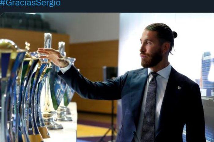 Sergio Ramos berpisah dengan Real Madrid pada Rabu (16/6/2021).