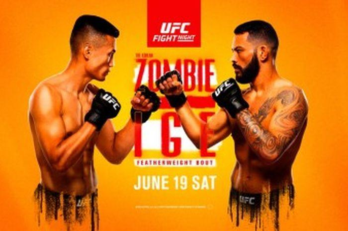 Poster duel Zombi Korea vs Dan Ige di UFC Vegas 29, Minggu (20/6/2021) WIB.