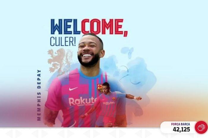 Memphis Depay resmi bergabung dengan FC Barcelona di bursa transfer musim panas 2021.