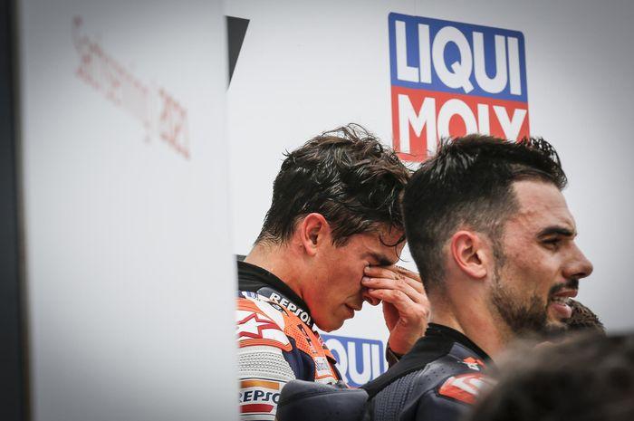 Marc Marquez sangat emosional usai menang di MotoGP Jerman 2021 dan membuatnya tetap menyandang gelar SachsenK11ng alias SachsenKing