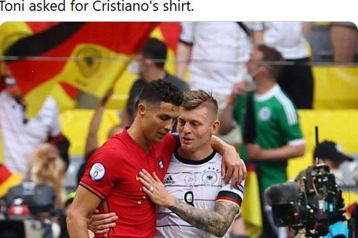 Ungkap obrolan dengan Cristiano Ronaldo, Toni Kroos puji pemain yang sangat liar seusai duel timnas Portugal versus timnas Jerman.