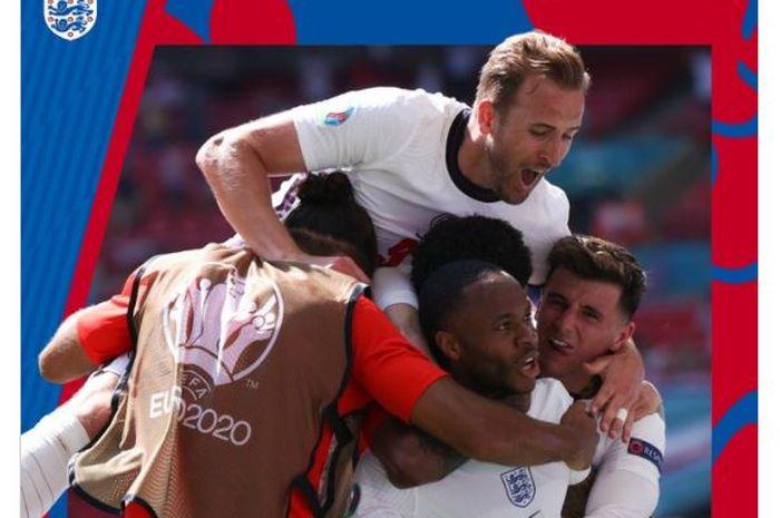 Timnas Inggris sudah pasti lolos ke babak 16 besar EURO 2020.