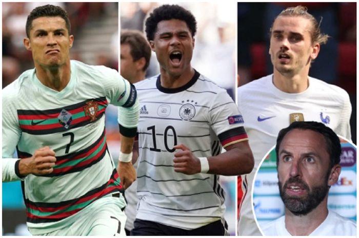 Pelatih Timnas Inggris Gareth Southgate (insert) rela bertemu Portugal, Jerman, atau Prancis di 16 besar Euro 2020 demi tetap bisa bermain di stadion dambaan.