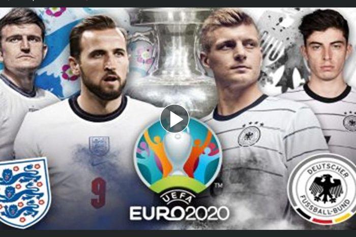 Timnas Inggris menjamu Jerman dalam babak 16 besar Euro 2020 di Stadion Wembley, London, Selasa (29/6/2021) pukul 23.00 WIB.