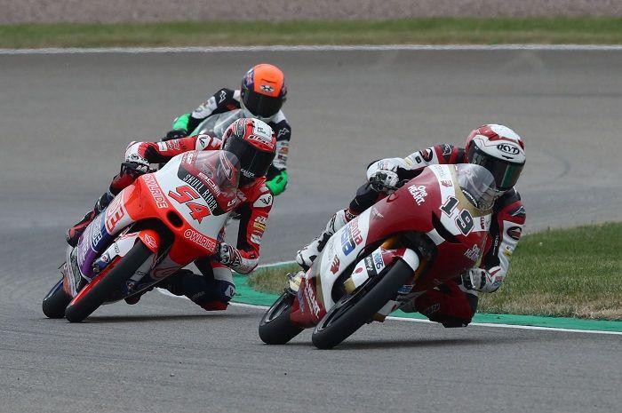 Andi Farid Izdihar atau Andi Gilang, pembalap Indonesia yang tampil mencari starting grid terbaik menurut hasil kualifikasi Moto3 Belanda 2021 (26/6/2021) saat beraksi di Sirkuit Assen.