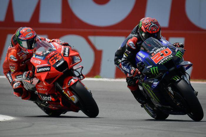 Francesco Bagnaia (Ducati) dan Fabio Quartararo (Monster Energy Yamaha) menampilkan persaingan super sengit di MotoGP Belanda 2021.
