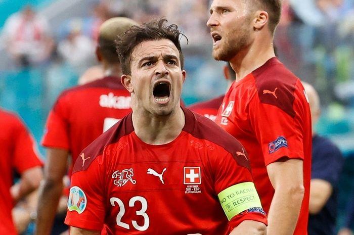 Xherdan Shaqiri yang berhasil mencetak gol untuk timnas Swiss.