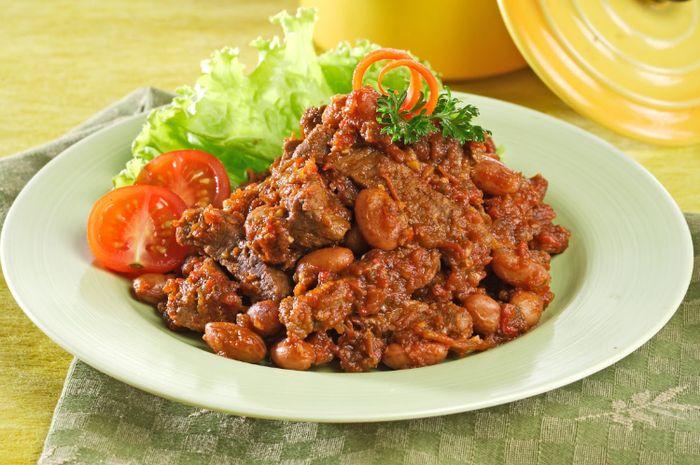 Resep daging masak tomat kacang merah
