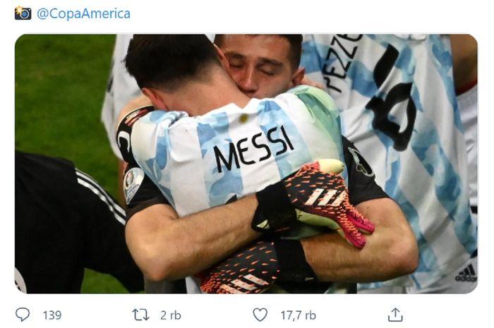 Lionel Messi dkk menghadapi Brasil dengan segala keberuntungannya di final Copa America 2021.