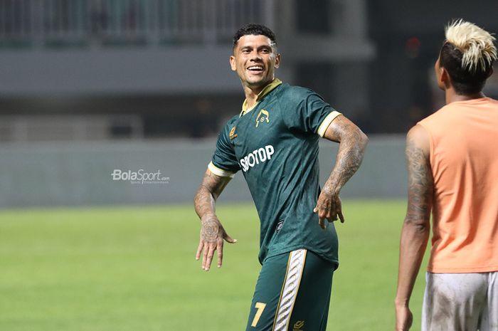 Striker Persikabo, Ciro Henrique Alves (Ciro Alves) saat laga pekan pertama Liga 1 2020 melawan Arema FC 2 Maret 2020.