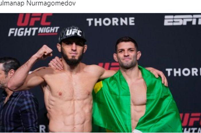 Islam Makhachev akan menghadapi Thiago Moises di UFC Vegas 31, Minggu (18/7/2021) WIB.