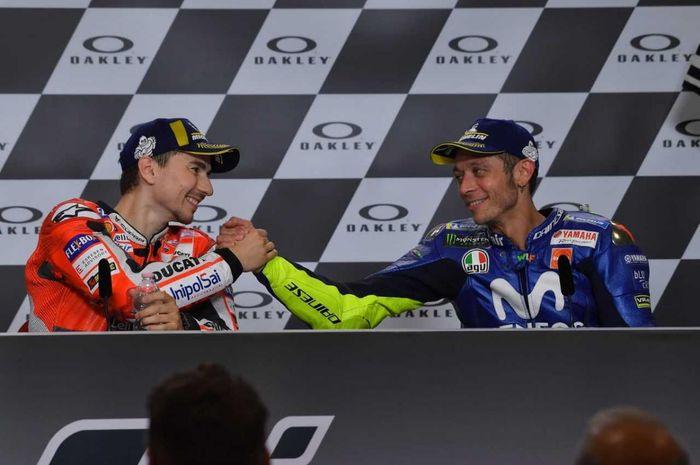 Mantan pembalap MotoGP, Jorge Lorenzo bertaruh untuk masa depan Valentino Rossi, pensiun atau lanjut dengan VR46?