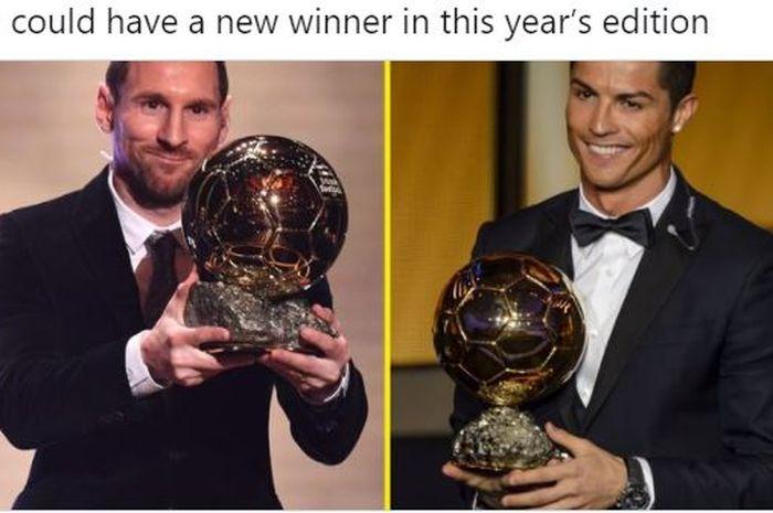 Megabintang timnas Argentina, Lionel Messi, dan megabintang timnas Portugal, Cristiano Ronaldo.