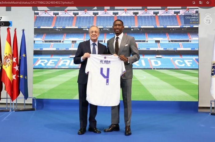 David Alaba akan menggunakan nomor punggung 4 di Real Madrid pada musim depan.