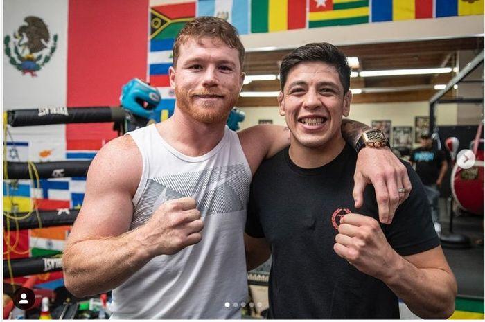 Raja tinju dunia, Canelo Alvarez, dan raja kelas terbang UFC, Brandon Moreno.