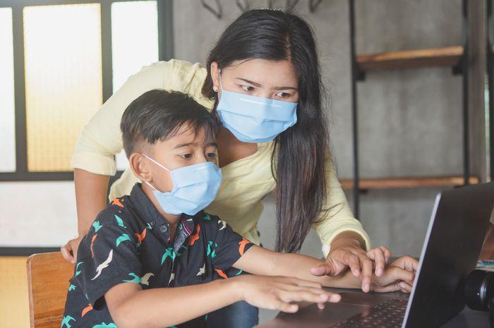 Ilustrasi anak Indonesia di masa pandemi.