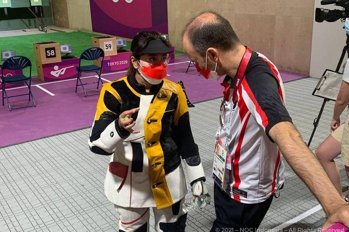 Petembak Indonesia, Vidya Rafika saat tampil pada ajang Olimpiade Tokyo 2020