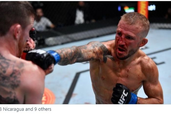 Duel TJ Dillashaw vs Cory Sandhagen di UFC Vegas 32, Minggu (25/7/2021) WIB.