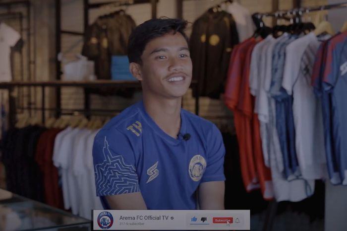 Pemain sayap muda Arema FC, Tito Hamzah