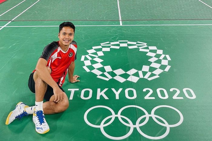 Anthony Ginting, atlet tunggal putra bulu tangkis Indonesia.