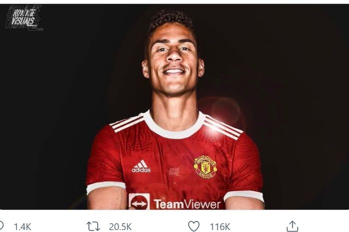 Raphael Varane, perekrutan terbaru Manchester United.