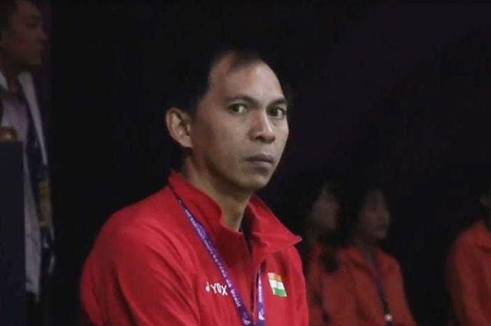 Flandy Limpele, pelatih kepala ganda putra Malaysia yang sukses membimbing Aaron Chia dan Soh Wooi Yik mengalahkan Marcus dan Kevin di perempat final bulu tangkis Olimpiade Tokyo 2020.