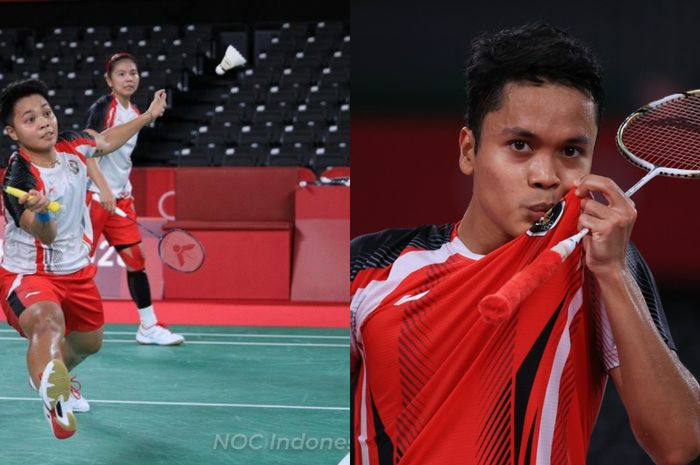 Greysia Polii/Apriyani Rahayu dan Anthony Sinisuka Ginting akan melakoni babak final dan perebutan medali perunggu Olimpiade Tokyo 2020 hari ini, Minggu (2/8/2021).