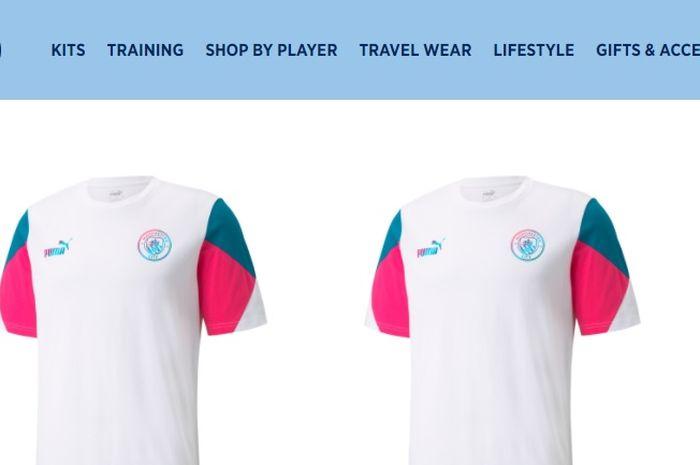 Manchester City mengeluarkan produk t-shirtnya yang bernama Manchester City FtblCulture Tee yang dinilai warganet mirip dengan jersey RANS Cilegon FC.
