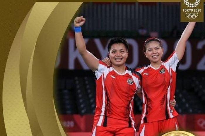 Greysia Polii dan Apriyani Rahayu menyumbangkan medali emas pertama untuk Indonesia.