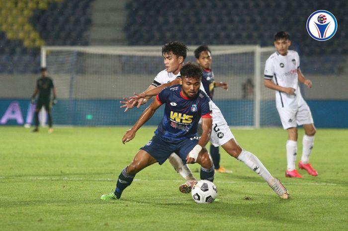Pemain Sabah FC, Saddil Ramdani saat melawan Terengganu FC dalam lanjutan Liga Super Malaysia 2021