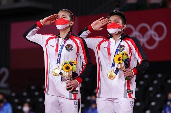 Greysia/Apriyani menyumbang medali emas Olimpiade dari kategori ganda putri.