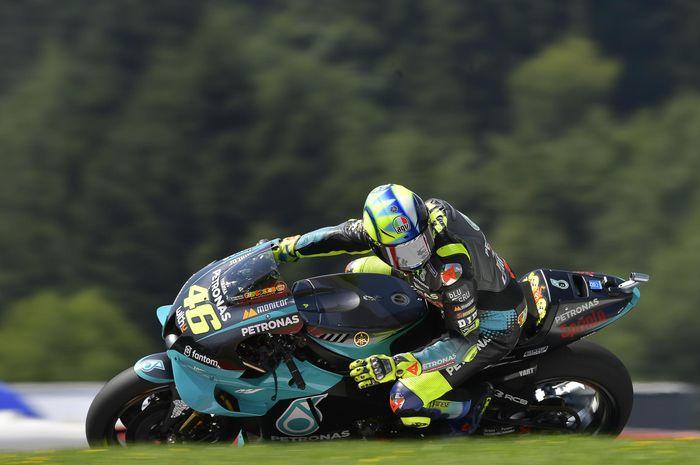 Pembalap Petronas Yamaha SRT, Valentino Rossi, pada MotoGP Austria 2021 di Red Bull Ring.