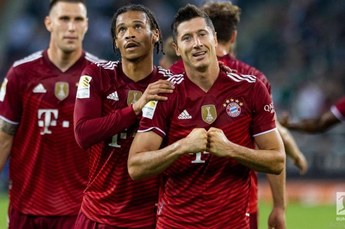 Striker Bayern Muenchen, Robert Lewandowski.