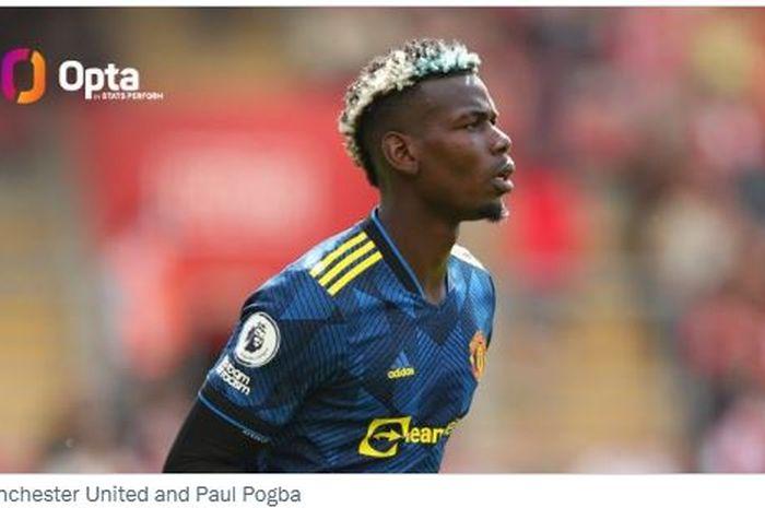 Gelandang Manchester United, Paul Pogba, saat tampil menghadapi Southampton di laga pekan kedua Liga Inggris 2021-2022, Minggu (22/8/2021).