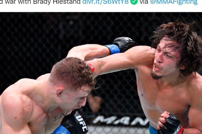 Petarung berdarah Filipina, Ricky Turcios, menjadi juara turnamen The Ultimate Fighter yang finalnya menjadi bagian dari UFC Vegas 35, Minggu (29/8/2021) WIB.