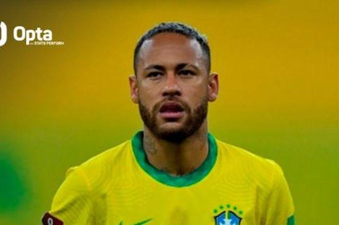 Megabintang Brasil, Neymar, membuat catatan lengkap dengan mencetak gol, asis, dan mendapat kartu kuning melawan Peru di Kualifikasi Piala Dunia 2022.