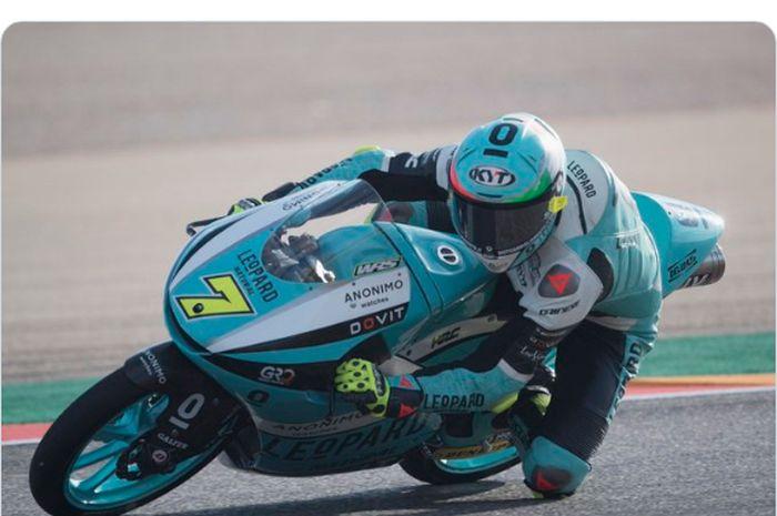 Pembalap Moto3 yang tampil bersama Leopard Racing, Dennis Foggia.